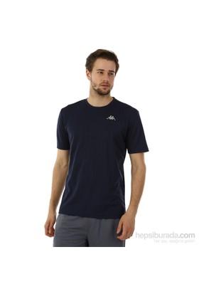 Kappa 1 302Y48 821S Erkek Boyuna Çizgili Poly T-Shirt Lacivert