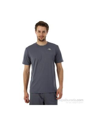 Kappa 1 302Y48 851S Erkek Boyuna Çizgili Poly T-Shirt Füme