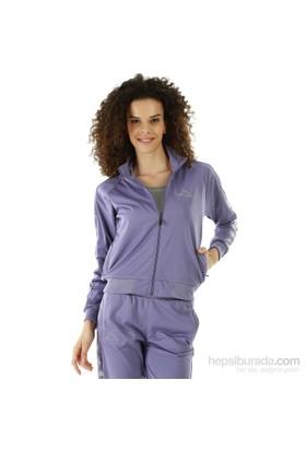 Kappa 1 302XOC 843XL Bayan Kadın Raşel Şeritli Sweatshirt Mor