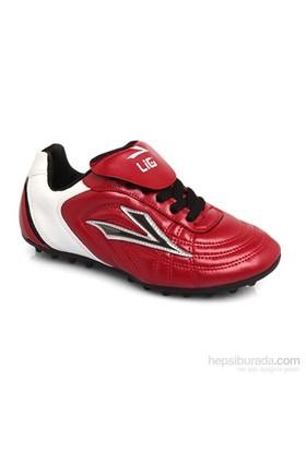 Lig Ilgaz Kırmızı-Beyaz-Gri Halısaha Ayakkabısı