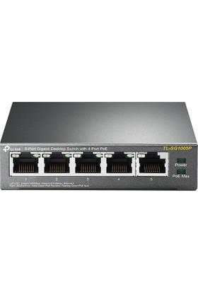 TP-Link TL-SG1005P 4 Port PoE Destekli 10/100Mbps Masaüstü 5-Port Gigabit Switch