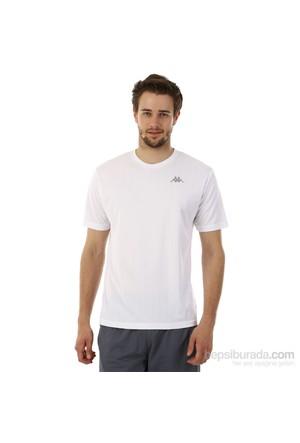 Kappa 1 302Y48 001XXL Erkek Boyuna Çizgili Poly T-Shirt Beyaz