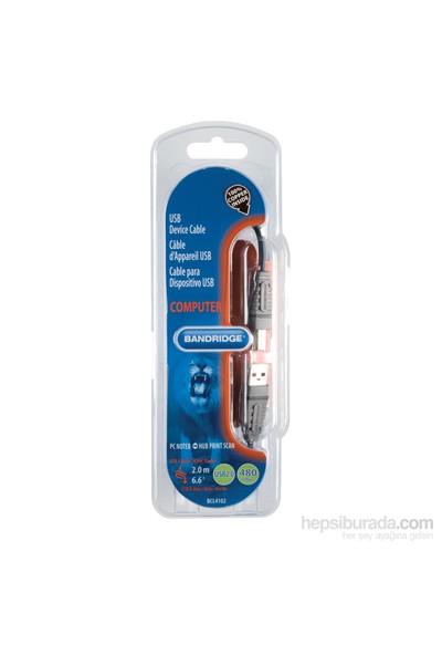 Bandridge BCL4102 USB A - USB B 2m USB Yazıcı Kablosu