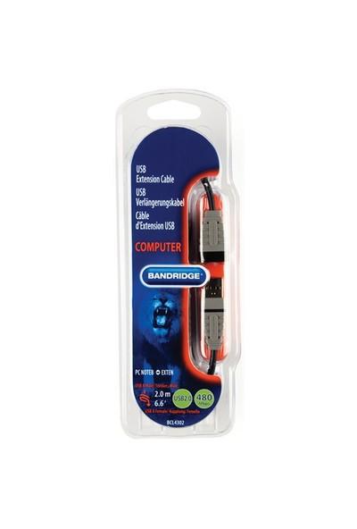 Bandridge BCL4302 USB A Male - A Female 2m USB uzatma Kablo