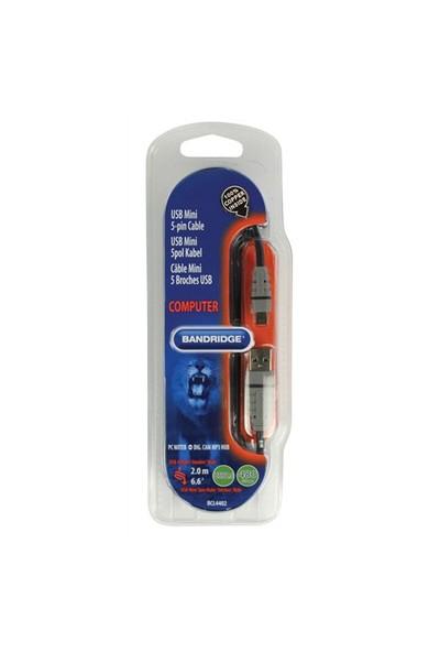 Bandridge BCL4402 USB A Male - Mini 5-pin Male 2m USB Kablo