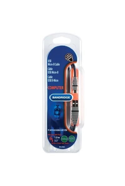 Bandridge BCL4901 USB Micro - B Cable 1m USB Kablo