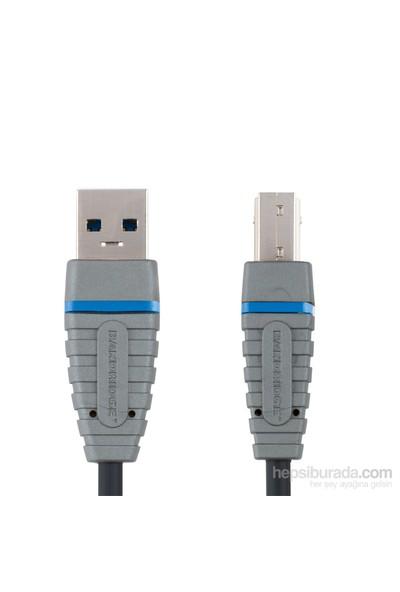 Bandridge BCL5102 USB A - USB B 2m SuperSpeed USB3.0 Kablo