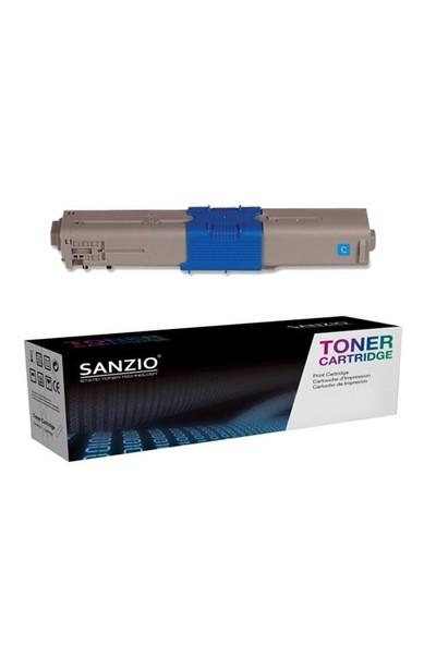 Sanzio Oki C301 Mavi Muadil Toner