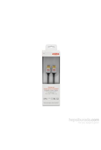 Ednet Highspeed HDMI 1.4 Erkek - Erkek 2M Altın Kaplamalı Siyah Ethernet Bağlantı Kablosu (ED-84481)