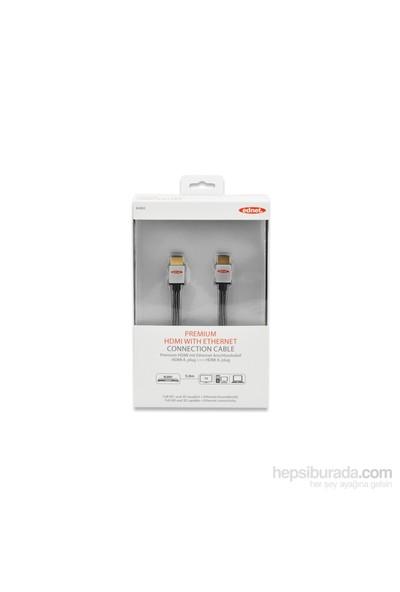 Ednet Highspeed HDMI 1.4 Erkek - Erkek 5M Altın Kaplamalı Siyah Ethernet Bağlantı Kablosu (ED-84483)