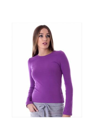 Ayyıldız 59419 Violet Uzun Kollu T-Shirt