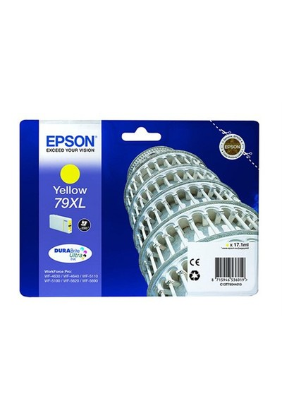 Epson C13t79044010 Singlepack Yellow 79Xl Durabrite Ultra Ink