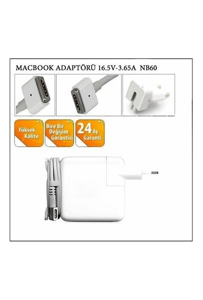 Macbook Adaptörü 16.5V-3.65A Nb60