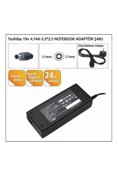 Toshiba uyumlu 19V 4.74A-5.5*2.5 Notebook Adaptörü Şarj