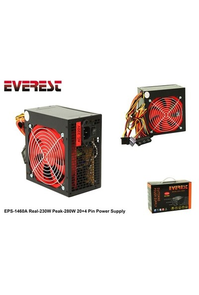 Everest Eps-1460A Real-230W Peak-280W 20+4 Pin Power Supply