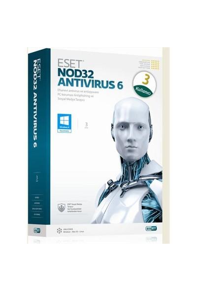 Eset Nod32 Antivirüs v6.0 TR 3 Kullanıcı 1 Yıl