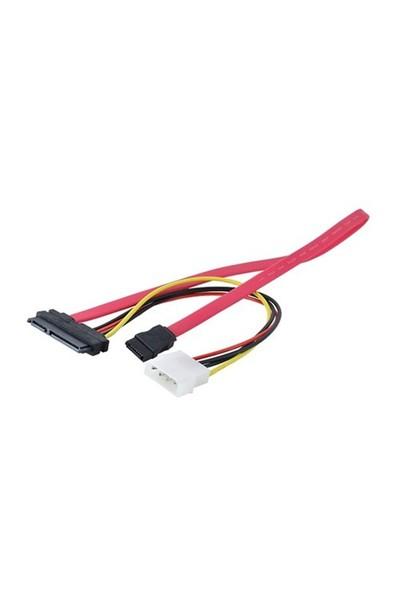 Ti-Mesh Sata 7+15P/Power/Sata 7P Kablo - 30Cm