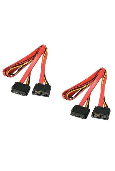 Ti-Mesh Sata 7P+6P Plug / Sata 7P+6P Socket - 50Cm