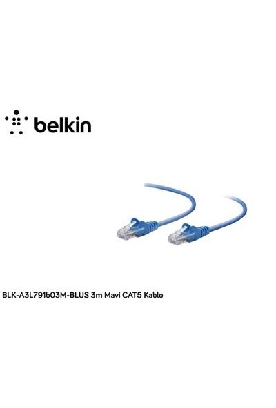 Belkin Blk-A3l791b03m-Blus 3M Mavi Cat5 Kablo