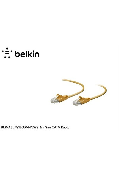 Belkin Blk-A3l791b03m-Ylws 3M Yeşil Cat5 Kablo