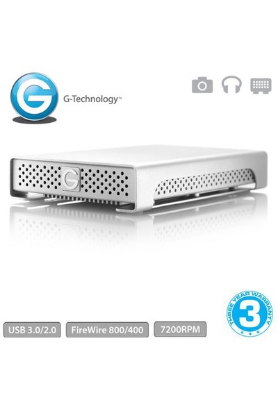"""G-Technology G-DRIVE mini 1TB 2.5"""" USB3.0 FireWire Taşınabilir Disk"""