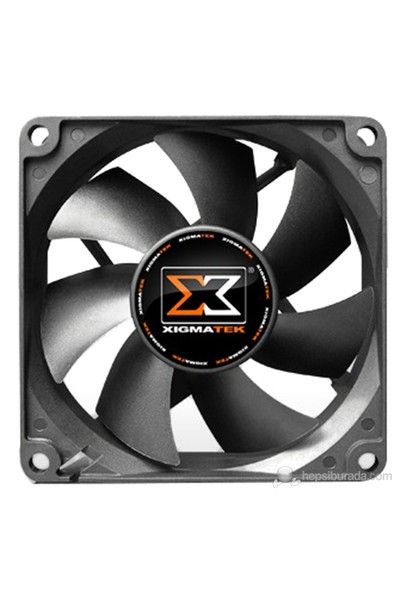 Xigmatek XSF-F8252 80x80x25mm Siyah Kasa Fanı