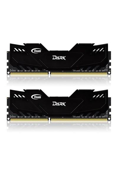 Team 8GB (2x4GB) 2400MHz DDR3 Overclocking Dark Series Oyuncu Soğutuculu Dual-Channel Ram Bellek (TM3D240042BLK)