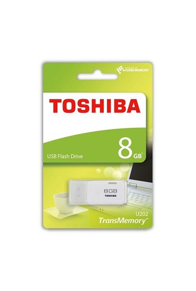 Toshiba 8GB Hayabusa Usb Bellek Beyaz