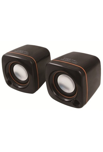 Logilink SP0005 Mini USB2.0 Stereo Hoparlör (Siyah)