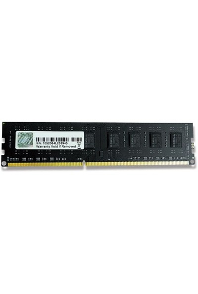 G.Skill Value 8GB 1333MHz DDR3 Ram (F3-10600CL9S-8GBNT)