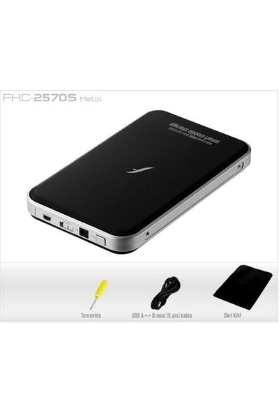 "Frisby FHC-2570S 2,5"" Sata USB 2.0 Siyah HDD Kutusu Backup Tuşlu"