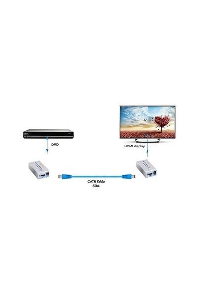 S-Link SL-HEX60 HDMI CAT6 60m Uzatıcı