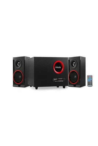 Mikado Md-19Bt 2+1 Siyah Usb+Sd+Fm Destekli Multimedia Bluetooth Speaker