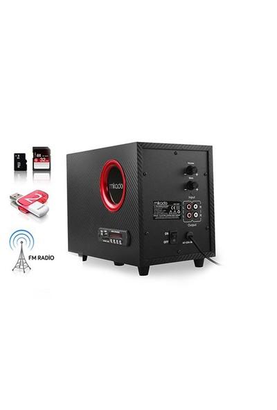 Mikado Md-19Bt 2+1 Siyah Usb+Sd+Fm Destekli Multimedia Bluetooth Speaker
