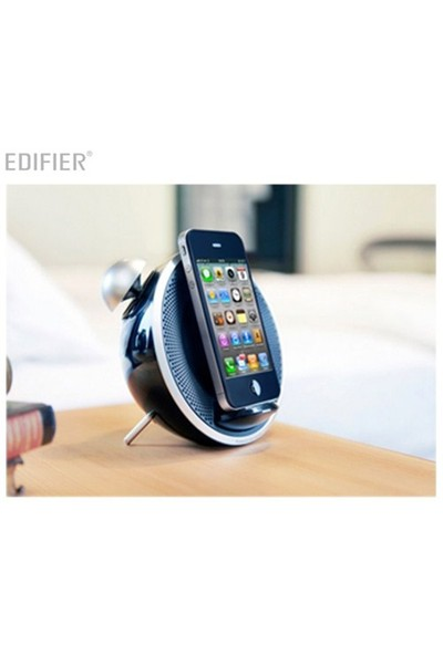 Edifier Image IF230B Tick Tock Dock 9W RMS iPod iPhone Uyumlu FM Radyolu Siyah Hoparlör