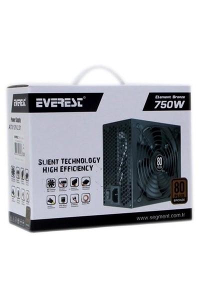 Everest 750W 80+ Bronze 14cm +6Sata Power Supply (BTX-750-1)