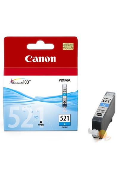 Canon CLI-521C Mavi Mürekkep Kartuş