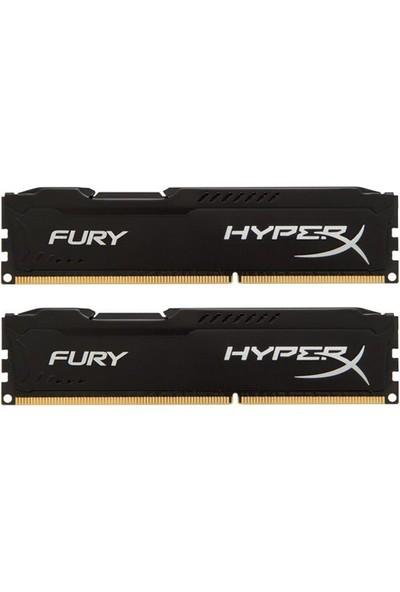 Kingston HyperX Fury Black 16GB(2x8GB) 1600MHz DDR3 Ram (HX316C10FBK2/16)