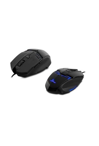 Rampage KM-R10 3 Farklı Aydınlatmalı Siyah Oyuncu Gaming Klavye Mouse Set