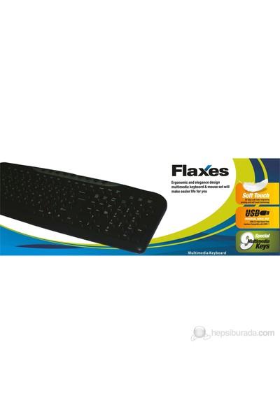 Flaxes FLX-174F-MM USB Multimedya F TR Klavye