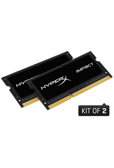 Kingston HyperX Impact Black 16GB(2x8GB) 1600MHz DDR3 Notebook Ram (HX316LS9IBK2/16)