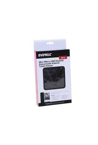 Everest Kb-15 Siyah Mini 5Pin + Micro 5Pin 7` Tablet Pc Q Klavye + Kılıf