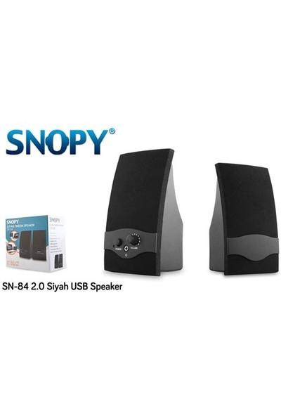 Snopy Sn-84 3W Rms 1+1 Sıyah Hoparlör
