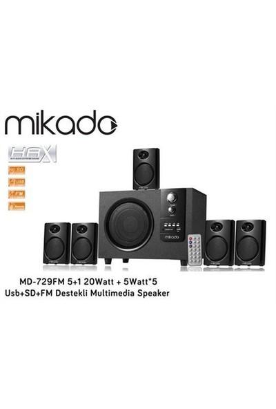Mikado Md-729Fm 5+1 20Watt + 5Watt*5 Usb+Sd+Fm Destekli Multimedi