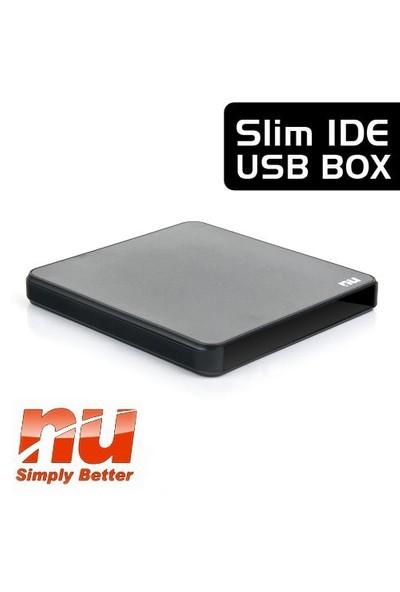 Nu IDE Arayüzlü Harici USB 2.0 Slim Optik Sürücü Kutusu (NUSDENIDE)