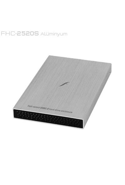 """Frisby FHC-2520S 2,5"""" SATA HDD için USB 2.0 Harici Kutu+Deri Kılıf Hediye"""