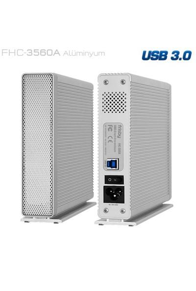 "Frisby FHC-3560A 3,5"" SATA USB3.0 Harici Kutu - Dahili Adaptör"