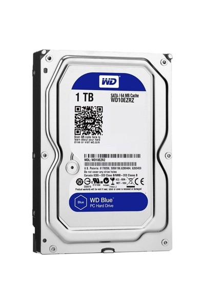 "Wd Blue 3.5"" Sata 6Gb-S 1Tb 64Mb Int.Hdd"