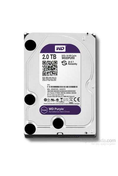 Wd Purple 7X24 3.5''2Tb 64Mb Sata 6Gb-S Guv.Hdd