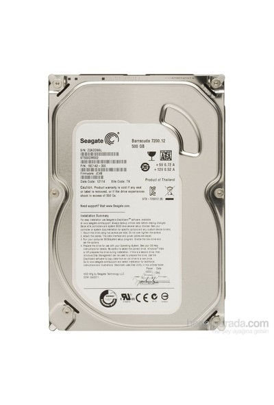 500Gb Seagate 3.5 7200Rpm 16Mb Sata3 Barracuda